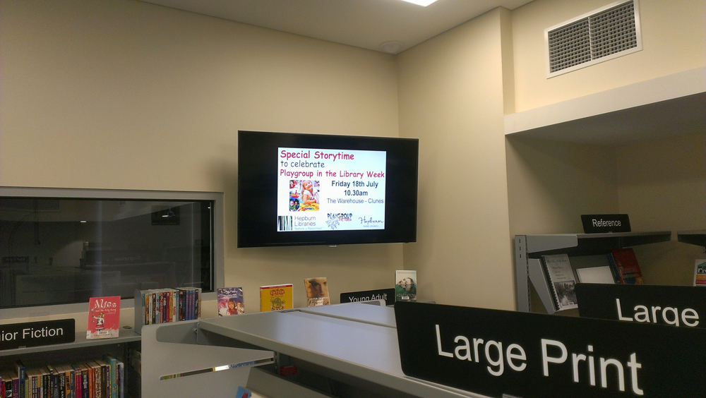 Interact Us digital signage solutions for public spaces and information