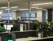 Interact Us digital signage solutions in the work place enhancing team communications