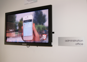 Interact Us digital signage for schools flat screen